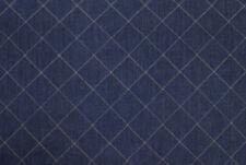 Denim blu effetto trapunta a quadri STOFFA AL METRO TESSUTO A METRAGGIO