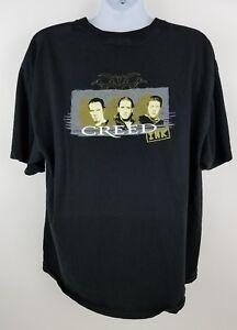 Creed Ink Tattoo Original Concert T Shirt w Flip Feature Magazine Rock Size 2XL