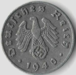 Rare Old Vintage German WWII Military Germany The Great War Collection WW2 Coin