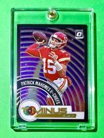 Patrick Mahomes OPTIC T-MINUS 3.2.1 SPECIAL INSERT PREMIUM 2020 CHIEFS CARD Mint