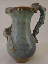 """Antique Chinese Chun Yao Flambe Glazed Pottery Pitcher.  6 ¼""""."""