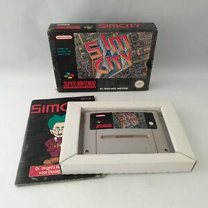 Super Nintendo SNES - Sim City Simcity - Complete in Box CIB