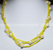 """Long Necktie Necklaces 60"""" Real 9-10mm White Natural Akoya Pearl Necklace JN634"""