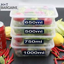 More details for takeaway food containers with lids plastic food boxes hygiene proof sealed packs