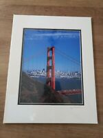 Golden Gate Bridge San Francisco Signed Matted 8x10 Photo by Emory Minnick