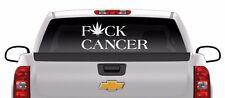 HUGE 12 x 32 F*ck Cancer sticker cannabis medical marijuana 420 weed vinyl decal