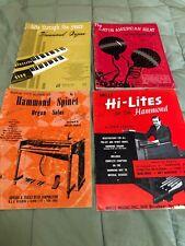 Vintage Hammond Organ Books Lot of 4