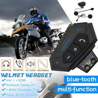 BT Motorbike Helmet Headset Bluetooth Interphone Motorcycle Intercom Headphone