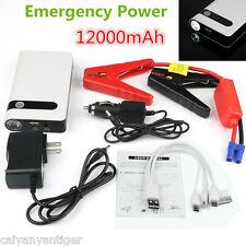 Portable Car Jump Starters Power Bank Backup Battery Charger Emergency 12000mAh