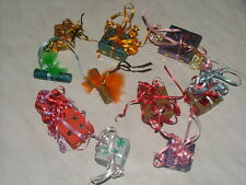 SET OF TEN LITTLE PRETEND CHRISTMAS PRESENTS TO HANG ON YOUR CHRISTMAS TREE