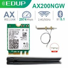 Intel WiFi 6 Card AX200 NGFF M.2 Desktop Bluetooth 5.1 with Antenna Cable Module