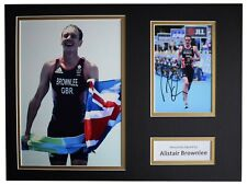 Alistair Brownlee Signed autograph 16x12 photo display Olympic Triathlon COA