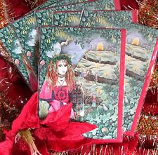 Set of Six Christmas cards Pagan Medieval Game of Thrones Wiccan Yule solstice