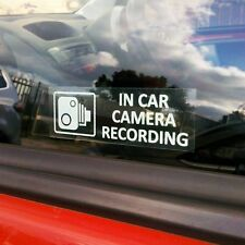 In car camera recording stickers.  90mm x 30mm  Pack of 2
