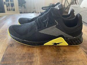 Reebok Flashfilm Trainer Men's Training Shoes Size 13 Black Highlighter Yellow