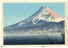 1940 Orig TOKURIKI TOMIKICHIRO Japanese Woodblock Print - Fuji From West IZU