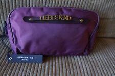 NEW Liebeskind Berlin Large Liana Burgundy Versatile Nylon Handbag Pouch Clutch