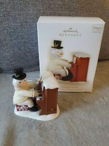 Hallmark Keepsake Sing-Along Snowman Christmas Ornaments features sound