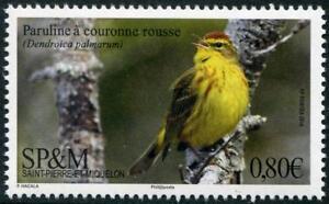 Palm Warbler mnh stamp 2018 Saint Pierre & Miquelon bird