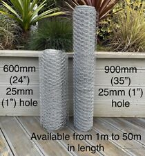 More details for  galvanised chicken wire mesh netting rabbit cage aviary fence plant net fence