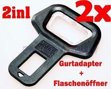 2x Universal Gurtadapter GurtAlarm Stopper Gurtwarner Gurtstecker+Flaschenöffner