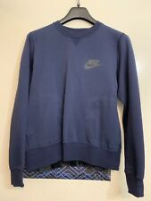 WOMEN'S NIKE X SACAI TECH FLEECE SWEATER [802245 451] PLEATED SWEATSHIRT SZ L
