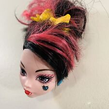 MONSTER HIGH DOLL SAVE FRANKIE DRACULAURA REPLACEMENT HEAD ONLY OOAK + Earrings