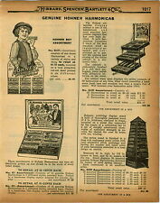 1926 PAPER AD 7 PG Harmonica Hotz Hohner Tremolo Tune The Up To Date Display