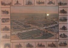 Chromolithographie, Vue Générale de l'Exposition Universelle Paris 1900, Lombart