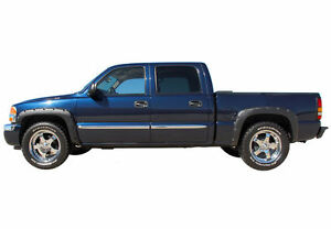 PAINTED NEW FENDER FLARES FOR CHEVY SILVERADO/GMC SIERRA 99-06 RIVETED/POCKET