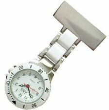 NEW FIRST HAND HEALTHCARE WATCH STYLE LINKS THERAPIST NURSE SILVER WITH WHITE