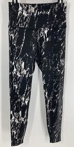 BEYOND YOGA Olympus Black Marble Tie Dye High Waisted Midi Ankle Legging L