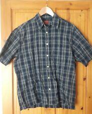 Mens Cotton Blue Burton Check Shirt M Medium 38-40 Chest