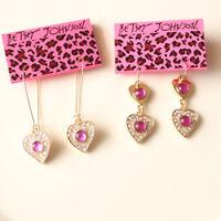 New Betsey Johnson Heart Drop Dangle Earrings Fashion Lady Jewelry 2Style Chosen