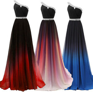 NEW Evening Formal Party Ball Gown Prom Bridesmaid Gradual Host Long Dress 4-22