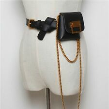 Luxury Mini Fanny Pack For Women Fashion Snake Skin Pattern Belt Waist Bag Chain