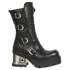 New Rock Buckle Combat Boots for Women