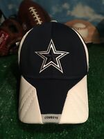 Rare Dallas Cowboys NFL equipment Reebok flexfit hat cap H45