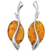 Orecchini di lusso con gemme ovali ambra ambra