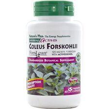 Nature's Plus, Herbal Actives, Coleus Forskohlii, 125 mg, 60 Veggie Caps