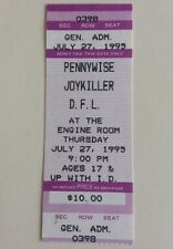 Pennywise & Joykiller - US Concert Ticket Stub 1995 Dallas, Texas