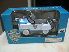 AMERICAN HEROES NYPD 1:43 SCALE POLICE CRUISER PEDAL CAR TRAIN ACCESSORY K-94531