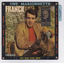 EP 45 TOURS FRANCK FERNANDEL UNE MARIONNETTE en 1965 PHILIPS 437 090 languette