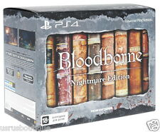 Bloodborne Nightmare Edition Video Game PS4 + Bonus T-shirt (size M) & Keychain