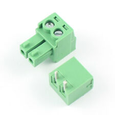 10Pcs 3.5mm Pitch 2 Pin Way Right Angle Screw Terminal Block Pluggable Connector