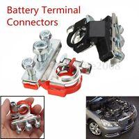 2Pcs Cosse Positive Negative Top-Post Borne Batterie terminal Connecteur Voiture