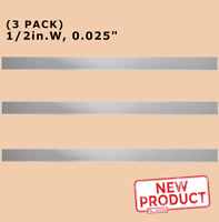 "Stainless Steel Sheet Metal Strips 1/2 Inch  Wide x 12"" Long x .025"" Thick NEW"