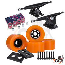 Cal 7 Longboard Flywheel 180mm Truck Bearing 83mm Orange Skateboard Wheels