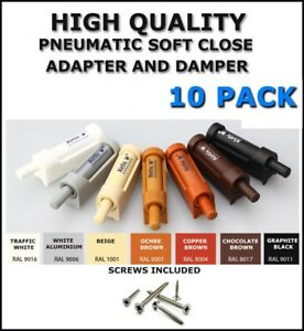 Soft Close Damper And Adapter For Furniture Doors Kitchen Cabinet -10 PACK -SET