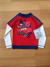 NWT Disney Store Double-Up Long Sleeve Cars 2 Rashguard for Boys Size 2/3
